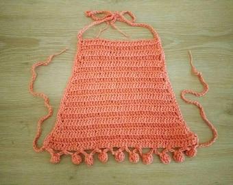 Crochet boho baby halter top