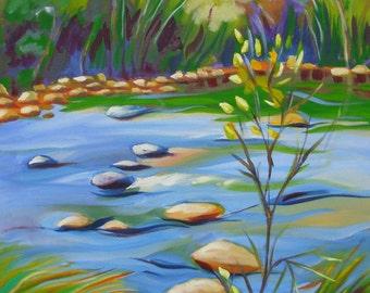 Sedona 4 Oak Creek abstract landscape oil painting