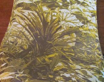 Vintage 60's Mod Ferns and Leaves Wallpaper Roll - 1 double roll - NOS - 60's Wallpaper - Hawaiian Wallpaper - Botanical - Tiki Hut