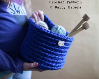 Crochet pattern // Hanging Basket // Instant Download
