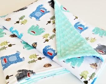 Yeti/Bigfoot/Sasquatch Minky Baby Blanket - Made to Order