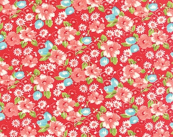 Red Little Ruby Fabric - Moda - Bonnie and Camille - 55130 11
