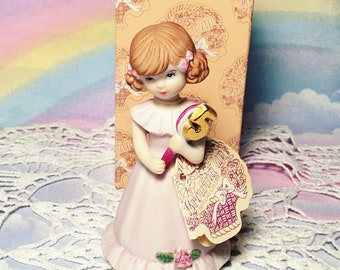 Vintage Enesco Ceramic 5 Growing up Birthdays Doll Figure