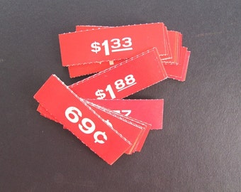 Vintage Store Price Tags Mercantile General Store Paper Tags Set of 6