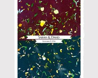 Fall Wedding Guest Book Alternative art Print - FALL HORIZON - Modern Guestbook Poster