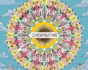 Congratulations Mandala Card