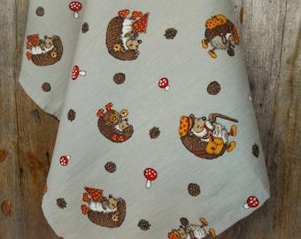 Hedgehog Tea Towel Fall Towel Fall Decor Woodland Tea Towel Hedgehog Towel Kitchen Towel Hand Towel Christmas Gift For Her Dish Towel