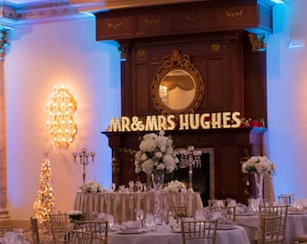 Wedding Marquee Lights/ Light up Names/ Wedding Lights Decor/ Marquee Letter Lights/Personalized Name Light/ Light up Letters