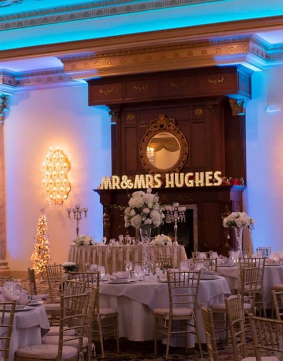 Bruiloft tent verlichting / licht omhoog namen / bruiloft