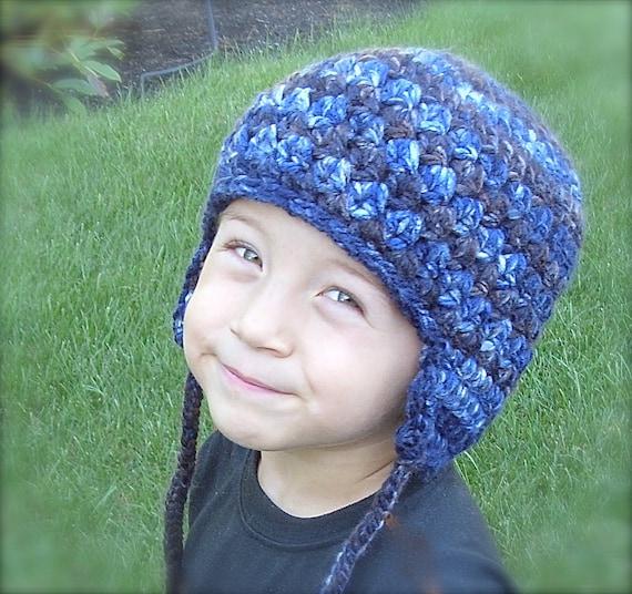 Earflap Hat Crochet Earflap Hat PATTERN Winter Hat With