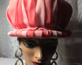 Beautiful Orange  Pillbox  Hat