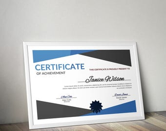 Multipurpose Certificate Word Template, DIY Certificate Template, Instant Download