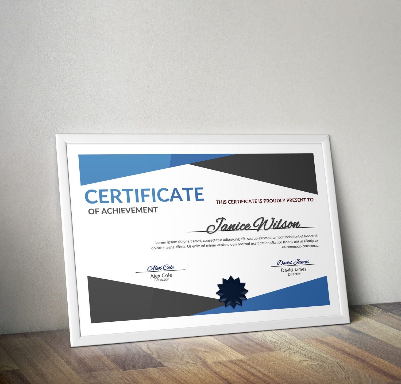 Mehrzweck-Zertifikat Wort DIY-Zertifikat Vorlage
