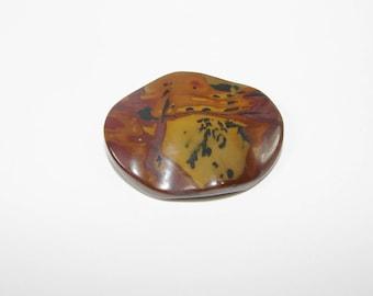 1 Pearl, Jasper artistic Brown puck 40.00 30.00 mm, sold individually. (9791029)