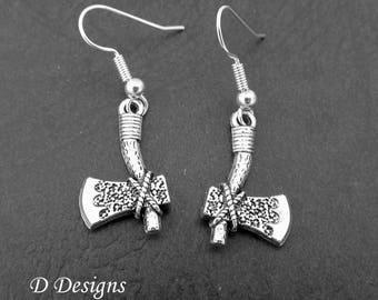 Axe Earrings Sterling Silver