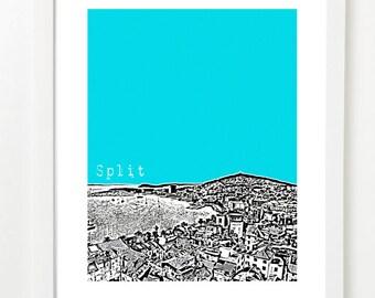Split, Croatia Poster - City Skyline Series Art Print - Split Art - VERSION 1