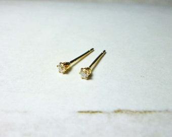 Tiny Round Stud Earrings, Twinkle Round Earrings