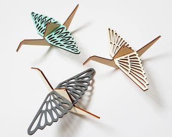 ALIZI.MOBI - SB - decorative wooden birds - Small Birds / modern decoration / Mobile, Baby Crib Mobile, Baby Mobile, Nursery Mobile Decor
