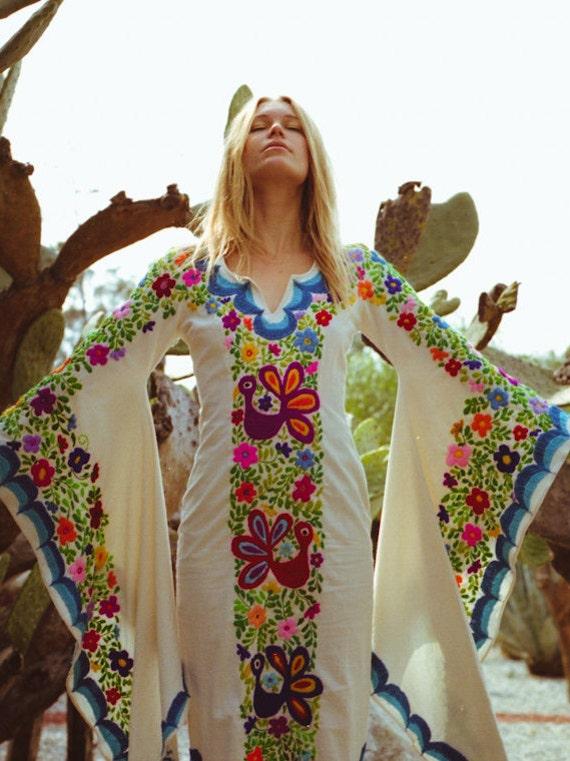 Mexican Wedding Dress Boho wedding gown Maxi Caftan Dress