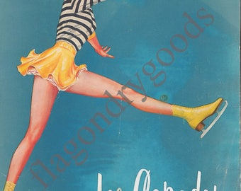 1956 Ice Capades Souvenir Program Cover Art Digital Print