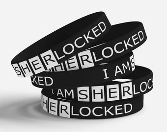 I am SHERlocked jelly bracelet