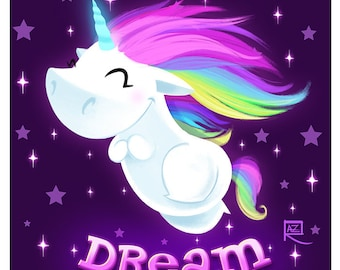 Cute Unicorn DREAM - Small print