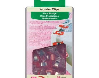 Red Wonder Clips 50 piece Clover fabric sewing craft notions