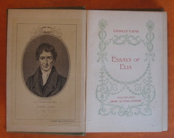 1890's - Essays of Elia by Charles Lamb