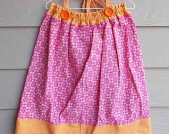 Handmade Floral Pillowcase Dress 3-4T - toddler sundress, girls sundress, sleeveless dress, girls clothing, beach pillowcase dress, halter