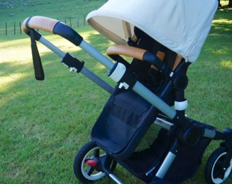 Leather Pram handle & belly / bumper bar covers for Bugaboo Prams