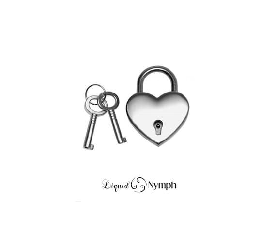 Silver heart lock for bdsm collar lock bondage cuffs slave to like this item aloadofball Gallery