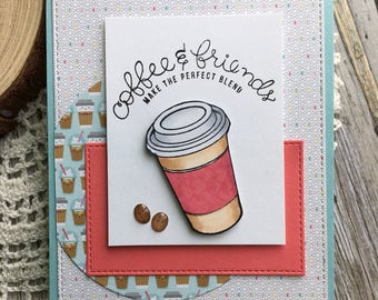 Coffee & Friends | Handmade Card