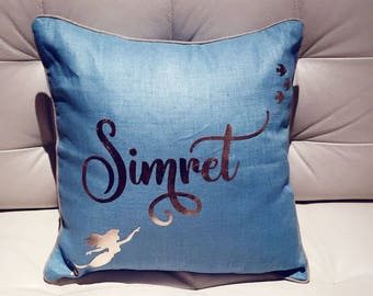 Luxury personalised Mermaid Linen Cushion