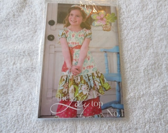 Paper Pattern from modkin Gretchen euro-style dress with oversized pockets and square neckline by Patty Young sizes 2T-10
