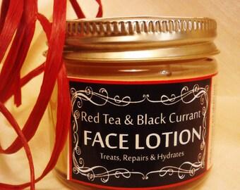 Red Tea and Black Currant Face Lotion | 2 oz | Argan Oil | Jojoba Face Cream | Chamomile Face | Sea Buckthorn | Dry Skin | Rosacea Healer
