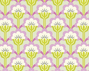 Nicey Jane Slim Pop Blossom in Dove by Heather Bailey - 1 Yard