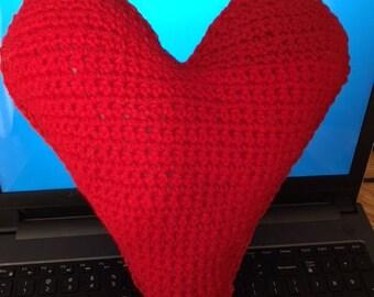 Heart Crochet Pillow