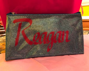 Personalized Makeup, Pencil Pouch, or Accessory Bag