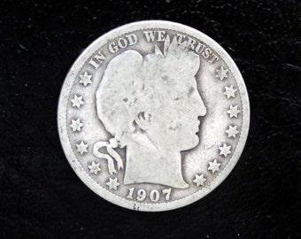 1907-P  Barber/Liberty Head Half -#108