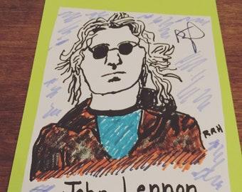 John Lennon just Imagine us all living life in Peace?