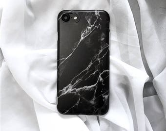 Black marble iphone case , marble phone case, matte phone case, iphone 6, iphone 6 plus, iphone 7, iphone 7 plus, 8 , 8 plus ,tech gift men