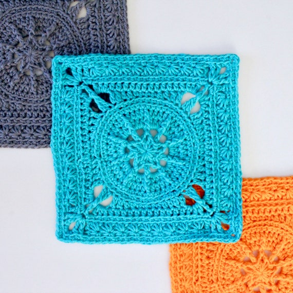 Crochet Pattern. Tiny Star Square. Instant digital download.