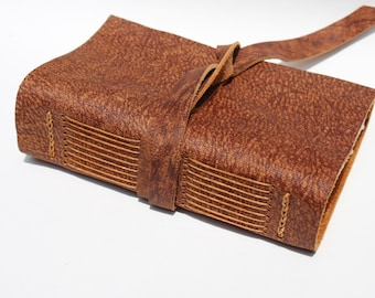 Leather Journal or Leather Notebook or Leather Sketchbook - Handmade - Animal Kingdom