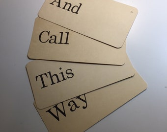 Vintage School Reading Cards And Call This Way