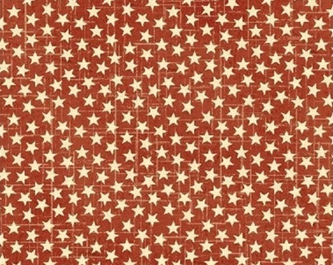 Half Yard Freedom - Stars in Red - Cotton Quilt Fabric - Whistler Studios and Windham Fabrics - 38907-3 (W2680)