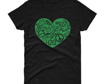 420 Weed Love Women's t-shirt