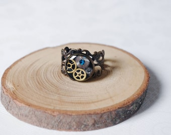 Mechanical ring Steampunk Watch ring Steampunk Jewellery Industrial Jewellery clockwork Steampunk ring gift for christmas gift for her