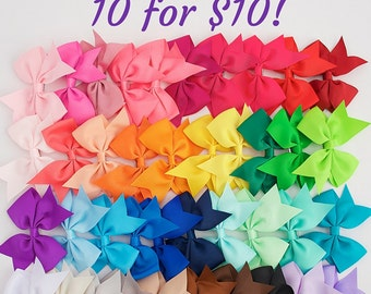 Little girl bows 3.5 hair bow clips, wholesale hair bows, gift girl, girls bows, hair bows, bows for girls, lot of bows, cheap bows, dollar