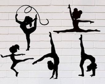 Gymnast svg, Gymnastics svg, Dance svg, Ballerina svg, Girl svg, Ballet svg, Dancer svg, SVG, DXF, eps, png, pdf, Ballerina clipart, Gymnast