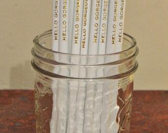 Custom Pencils, set of 15 Personalized Pencils, Engraved Pencils, Pencils, Cross Word, Wedding Favors, Bridal Shower Favor, Party Favor